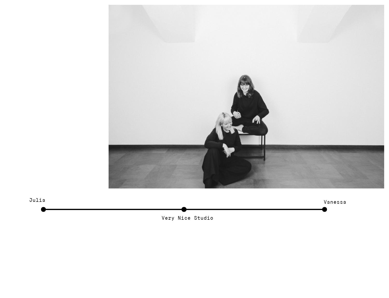 Julia & Vanessa, Very Nice Studio Lebenslinie for HDIGH Interview Photo Credit ©verynicestudio